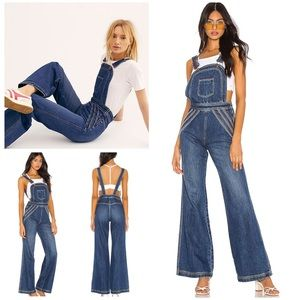 Free People Chasing Rainbows Overalls